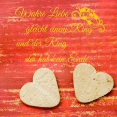 Wandtattoo Wahre Liebe gleicht einem Ring