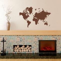 Wandtattoo Weltkarte Globus