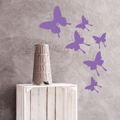 Wandtattoo Schmetterlingsschwarm Admiral
