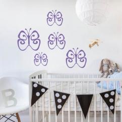 Wandtattoo Schmetterlingsschwarm Babyzimmer