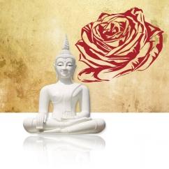 Wandtattoo Eine Rosenblüte