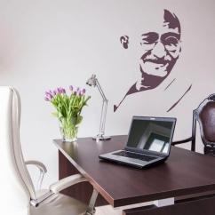 Wandtattoo Mohandas Karamchand Gandhi als Silhouette