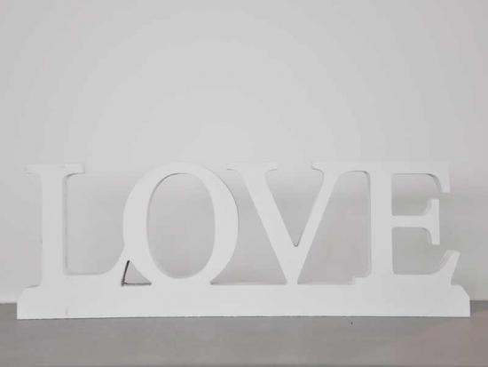 3D Holzschriftzug LOVE