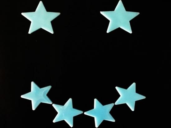 Blaue Leuchtsterne