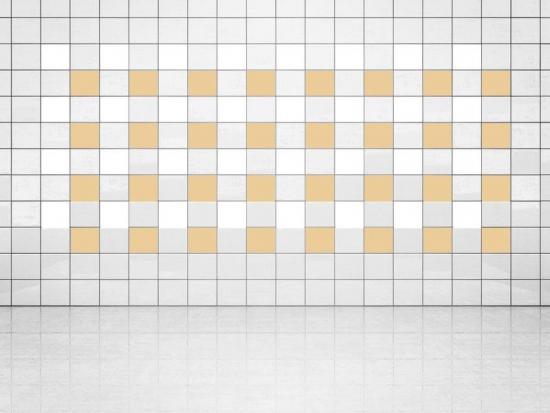 Fliesenaufkleber Creme (A719-01) und Weiss (A700) 20er Set