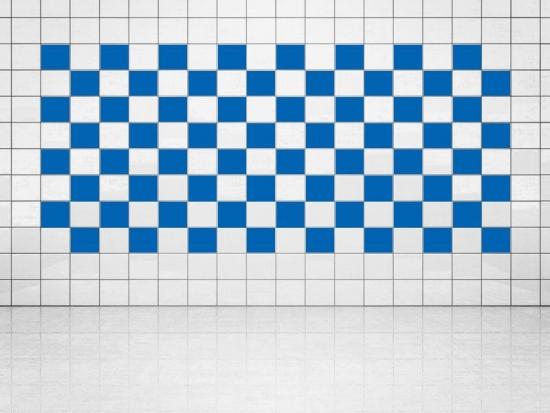 Fliesenaufkleber Blau (A733) 20er Set