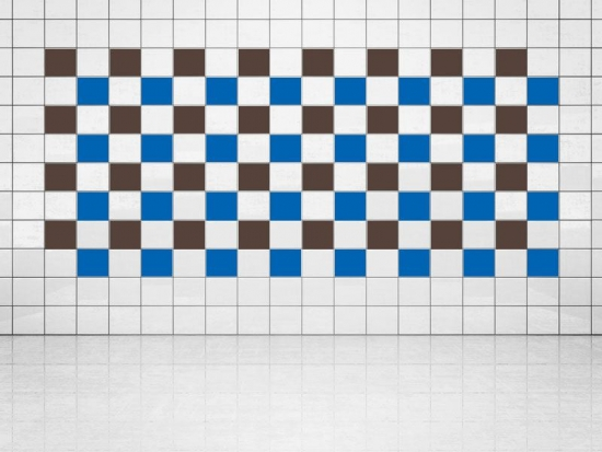 Fliesenaufkleber Blau (A733) und Rehbraun (A777-049) 20er Set