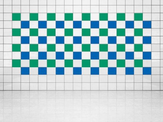 Fliesenaufkleber Blau (A733) und Grün (A756) 20er Set