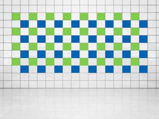 Fliesenaufkleber Blau (A733) und Lindgrün (A714-01) 20er Set