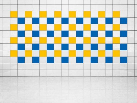 Fliesenaufkleber Blau (A733) und Sonnengelb (A706-01) 20er Set