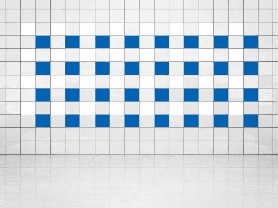 Fliesenaufkleber Blau (A733) und Weiss (A700) 20er Set