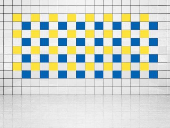 Fliesenaufkleber Blau (A733) und Primelgelb (A707) 20er Set