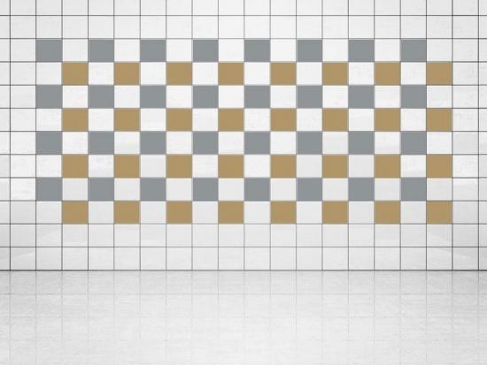 Fliesenaufkleber Gold Metallic (A836) und Silber Metallic (A835) 20er Set