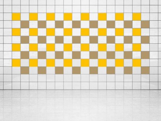 Fliesenaufkleber Gold Metallic (A836) und Sonnengelb (A706-01) 20er Set