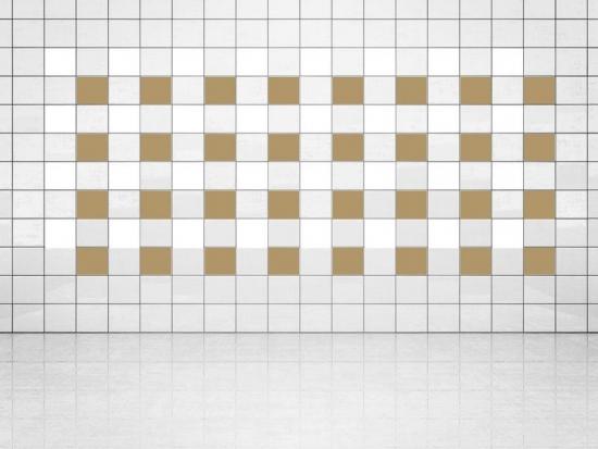 Fliesenaufkleber Gold Metallic (A836) und Weiss (A700) 20er Set