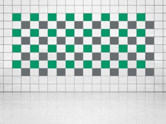 Fliesenaufkleber Grau (A720) und Grün (A756) 20er Set