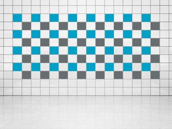 Fliesenaufkleber Grau (A720) und Himmelblau (A784) 20er Set