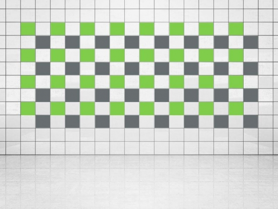 Fliesenaufkleber Grau (A720) und Lindgrün (A714-01) 20er Set