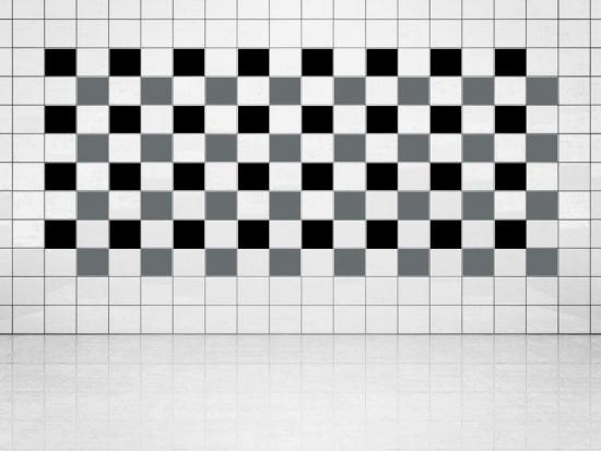 Fliesenaufkleber Grau (A720) und Schwarz (A701) 20er Set