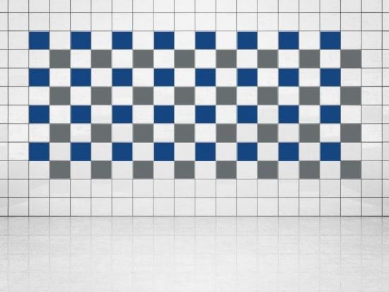 Fliesenaufkleber Grau (A720) und Ultramarinblau (A752) 20er Set