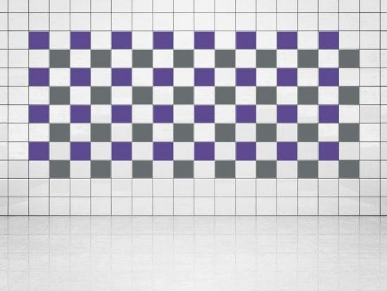 Fliesenaufkleber Grau (A720) und Violett (A717) 20er Set