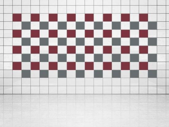 Fliesenaufkleber Grau (A720) und Weinrot (A778) 20er Set