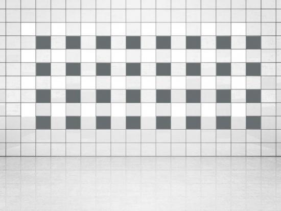 Fliesenaufkleber Grau (A720) und Weiss (A700) 20er Set