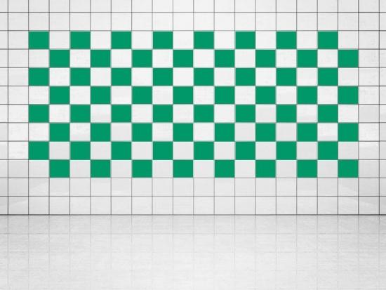 Fliesenaufkleber Grün (A756) 20er Set