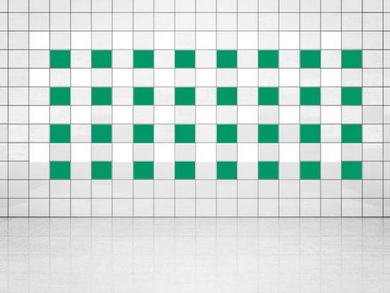 Fliesenaufkleber Grün (A756) und Weiss (A700) 20er Set