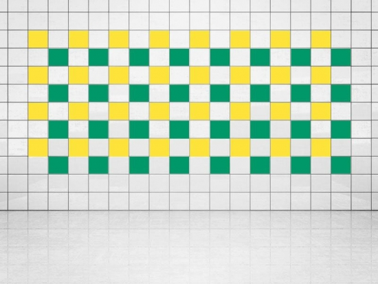 Fliesenaufkleber Grün (A756) und Primelgelb (A707) 20er Set
