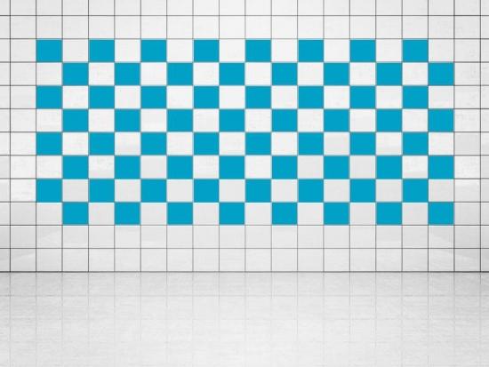 Fliesenaufkleber Himmelblau (A784) 20er Set