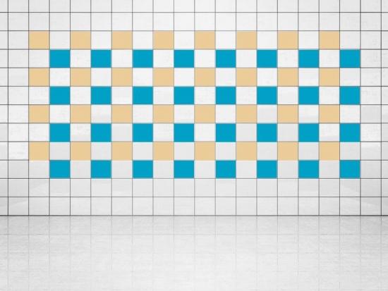 Fliesenaufkleber Himmelblau (A784) und Creme (A719-01) 20er Set