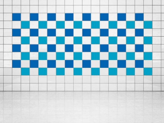 Fliesenaufkleber Himmelblau (A784) und Blau (A733) 20er Set