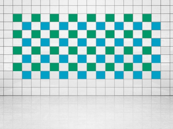 Fliesenaufkleber Himmelblau (A784) und Grün (A756) 20er Set