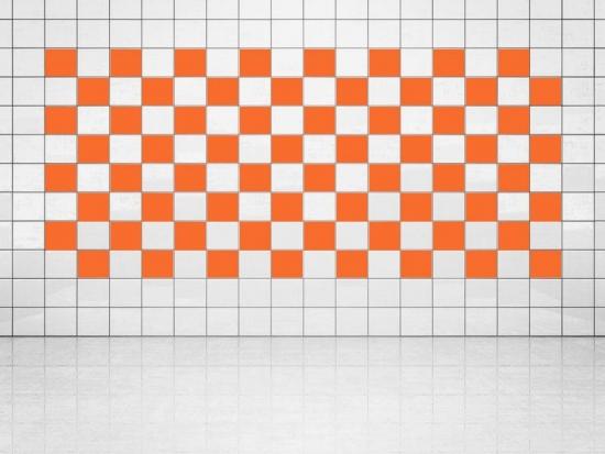 Fliesenaufkleber Orange (A705) 20er Set