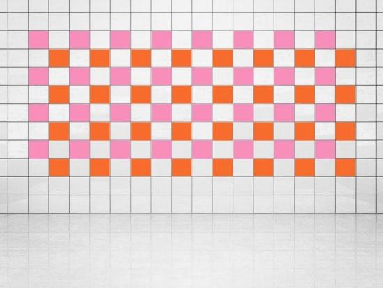 Fliesenaufkleber Orange (A705) und Pink (A716) 20er Set