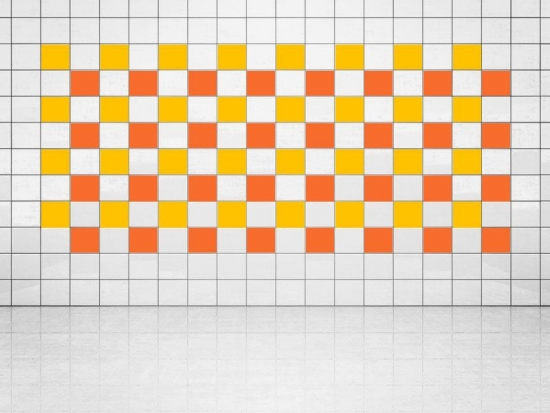 Fliesenaufkleber Orange (A705) und Sonnengelb (A706-01) 20er Set