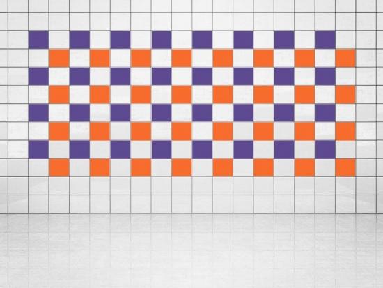 Fliesenaufkleber Orange (A705) und Violett (A717) 20er Set