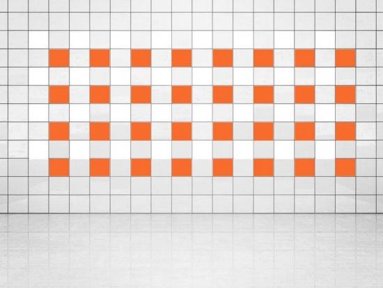 Fliesenaufkleber Orange (A705) und Weiss (A700) 20er Set