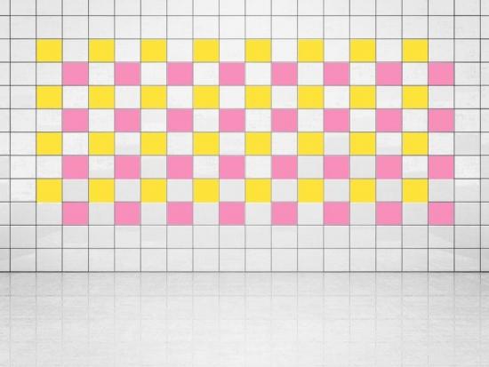 Fliesenaufkleber Pink (A716) und Primelgelb (A707) 20er Set