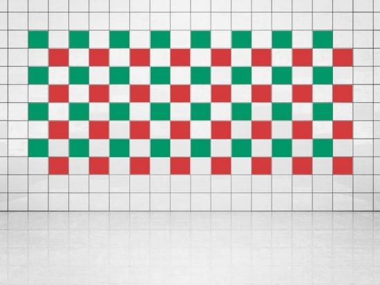 Fliesenaufkleber Leuchtrot (A737) und Grün (A756) 20er Set