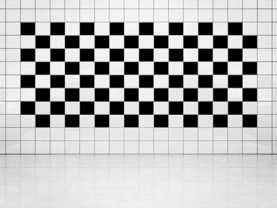 Fliesenaufkleber Schwarz (A701) 20er Set