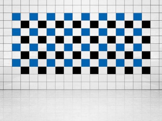 Fliesenaufkleber Schwarz (A701) und Blau (A733) 20er Set