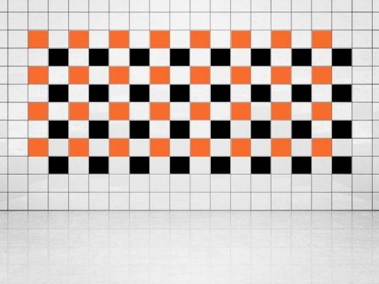 Fliesenaufkleber Schwarz (A701) und Orange (A705) 20er Set
