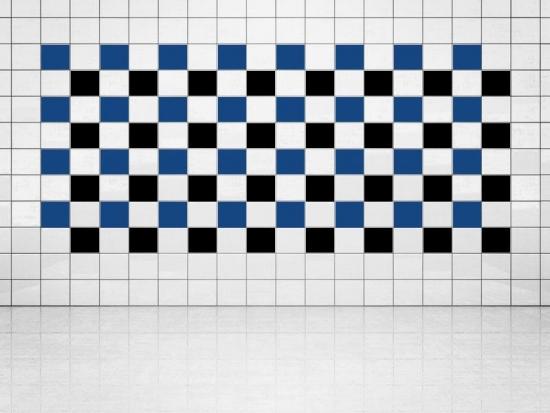 Fliesenaufkleber Schwarz (A701) und Ultramarinblau (A752) 20er Set