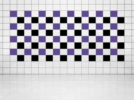 Fliesenaufkleber Schwarz (A701) und Violett (A717) 20er Set