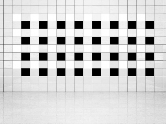 Fliesenaufkleber Schwarz (A701) und Weiss (A700) 20er Set