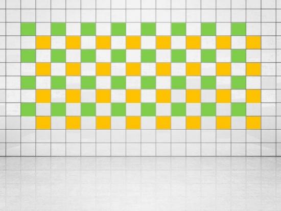 Fliesenaufkleber Sonnengelb (A706-01) und Lindgrün (A714-01) 20er Set
