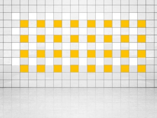 Fliesenaufkleber Sonnengelb (A706-01) und Weiss (A700) 20er Set