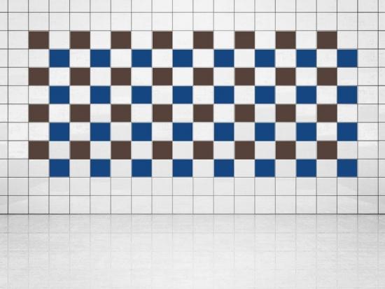 Fliesenaufkleber Ultramarinblau (A752) und Rehbraun (A777-049) 20er Set